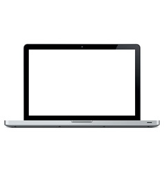blank laptop vector image