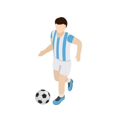 Argentina soccer player icon isometric 3d style vector