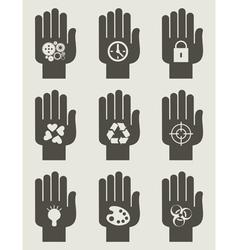 Set of hands vector