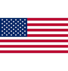 American usa flag with real colours and proportion vector