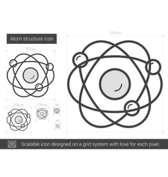 Atom structure line icon vector