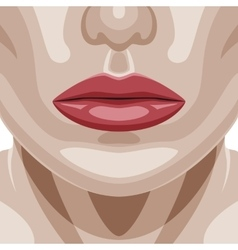Beauty woman face with perfect skin vector