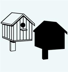 Bird houses nesting box vector image