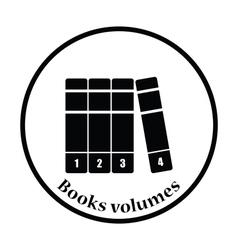 Books volumes icon vector image