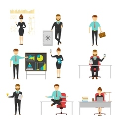 Businessperson set of characters vector