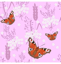 Butterfly on pink vector