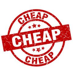Cheap round red grunge stamp vector