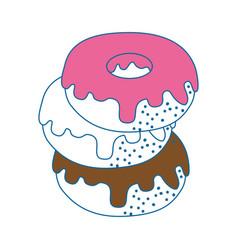 donut delicious dessert vector image