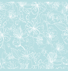 elegant floral seamless pattern with tender vector image vector image