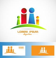 Family members logo vector