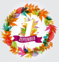 First 1 september template vector