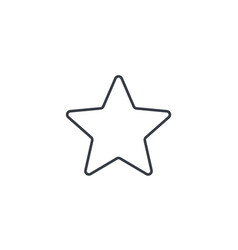 five-pointed star bookmark thin line icon linear vector image vector image