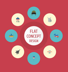 Flat icons memorial day identity holiday and vector