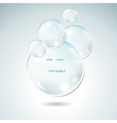 Glass Bubbles vector image vector image