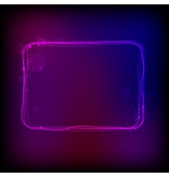 glowing frame against dark background vector image vector image