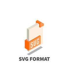 image file format svg icon symbol vector image