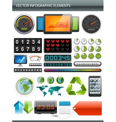 Infographics collection vector image vector image