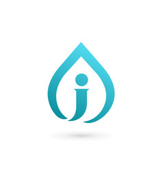 letter j water drop logo icon design template vector image