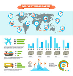 logistics delivery shipping and cargo loading vector image vector image