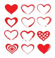 love heart designs vector image vector image