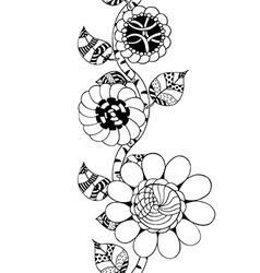 Monochrome floral pattern vector