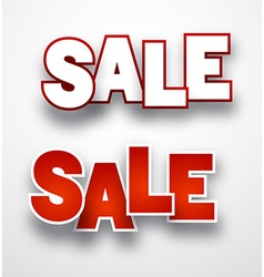 Paper sale sign vector image