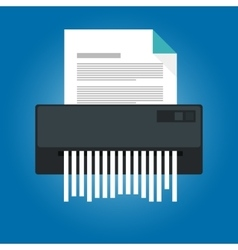 Paper shredder icon document business office vector