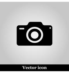 photo camera icon on grey background illus vector image