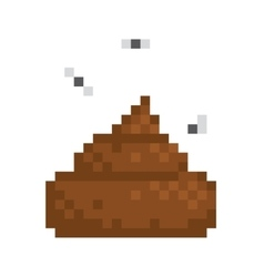 Pixel art style poo isolated vector image vector image
