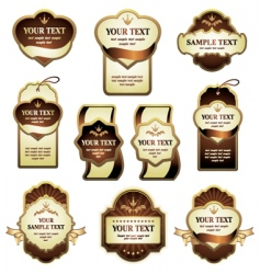 set of labels vector image
