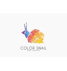 Snail logo Color snail logo Creative logo design vector image
