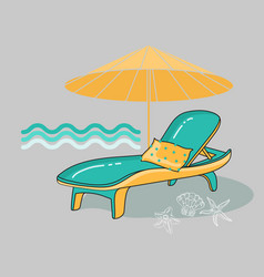summer cartoon of beach vector image
