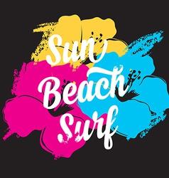 Surf summer icon design label vector image vector image