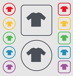 t-shirt icon sign symbol on the Round and square vector image