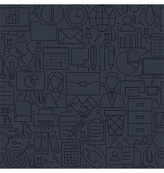 Thin line dark grey office business seamless vector