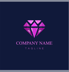Watercolor diamond logo design9 vector