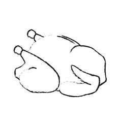 Whole chicken or turkey icon image vector