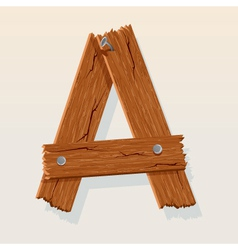 wooden letter a vector image vector image