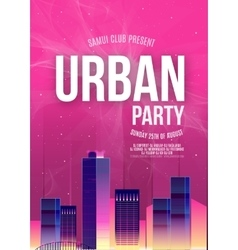 Urban dance party poster background template - vector