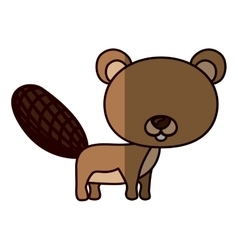 Isolated beaver cartoon design vector