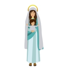Picture saint virgin mary with baby jesus vector