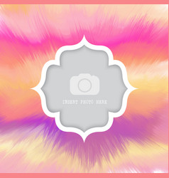 Watercolour background with frame for photo vector