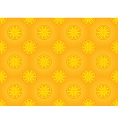 Pattern with orange slices vector