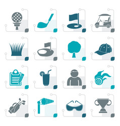 stylized golf and sport icons vector image