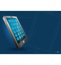 vector modern touch screen device vector image