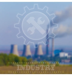 Blurry industrial background interface tem vector