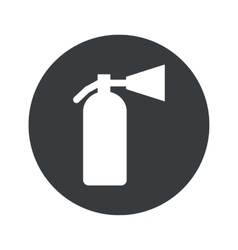 Monochrome round fire extinguisher icon vector