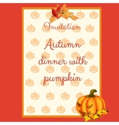 Preparation of the autumn menu card for cafes vector