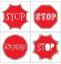 Set a stop sign vector