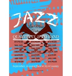 Jazz rock or blues music poster template vector